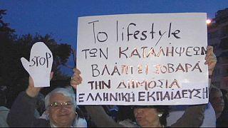 Protesta en Atenas contra una reforma educativa que para algunos lleva al país 40 años atrás