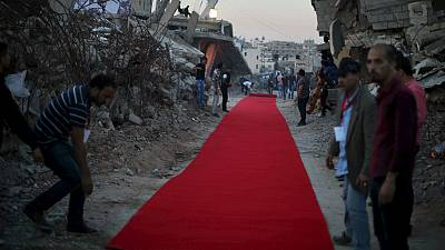 Film gets red carpet treatment amongst Gaza rubble