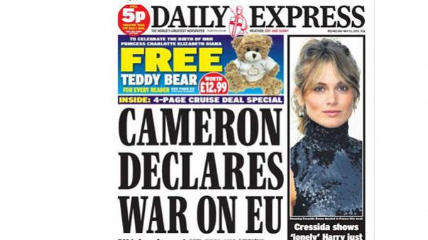 UK declares war on EU (according to the newspapers)