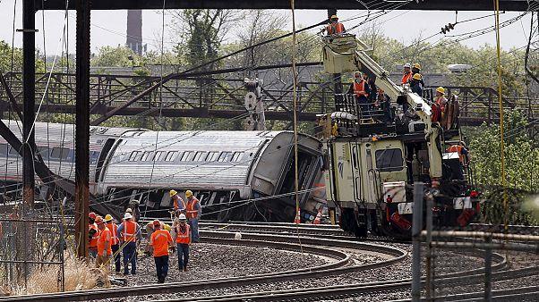 Halálos vonatbaleset Philadelphiában