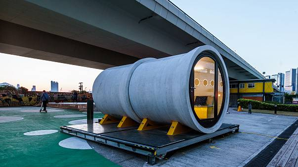 Image: OPod Tube Housing is designed using a concrete water pipe as a micro