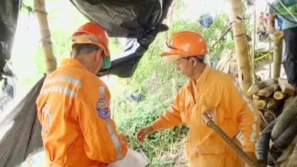 Colômbia: Mineiros encurralados em mina artesanal
