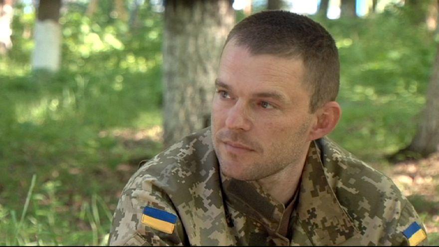 Los soldados de la minoría húngara en el ejército ucraniano