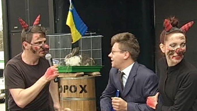 Ukraine : manifestation contre le mal-logement à Kiev