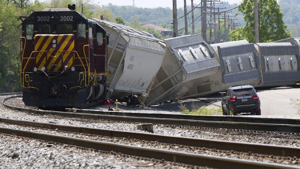 Ascienden a ocho los fallecidos del tren descarrilado en Filadelfia