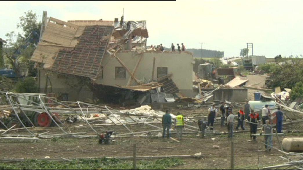 Un temporal daña 150 viviendas y deja 12 heridos en el sur de Alemania