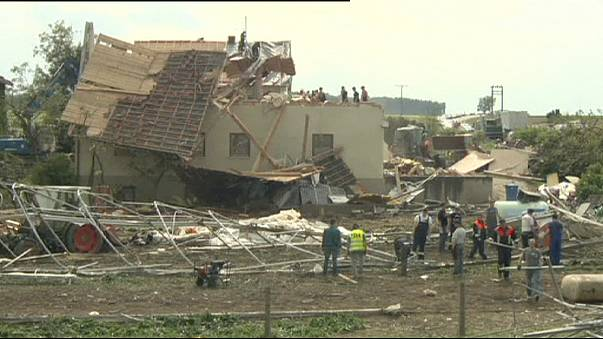 Stormy weather damages homes in southern Germany