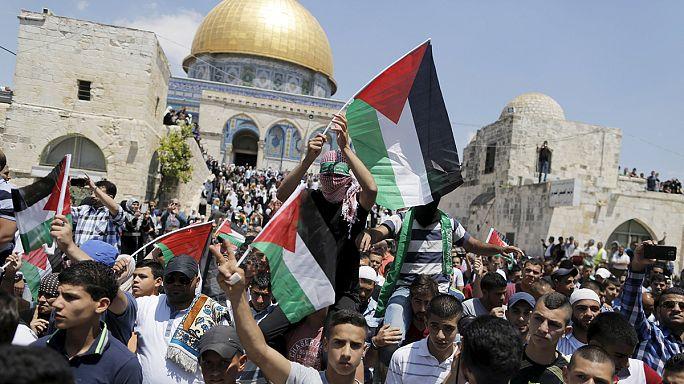 Una veintena de palestinos heridos por fuerzas israelíes cuando conmemoraban la Nakba
