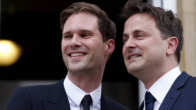 رئيس وزراء لوكسمبورغ يتزوج مع مهندس معماري بلجيكي