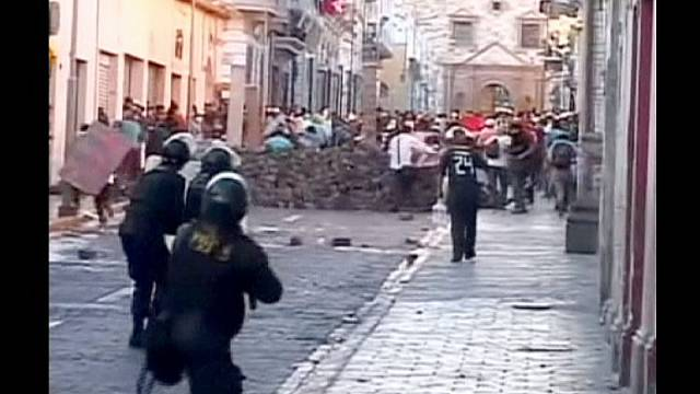 Peru'da olaylı maden protestosu
