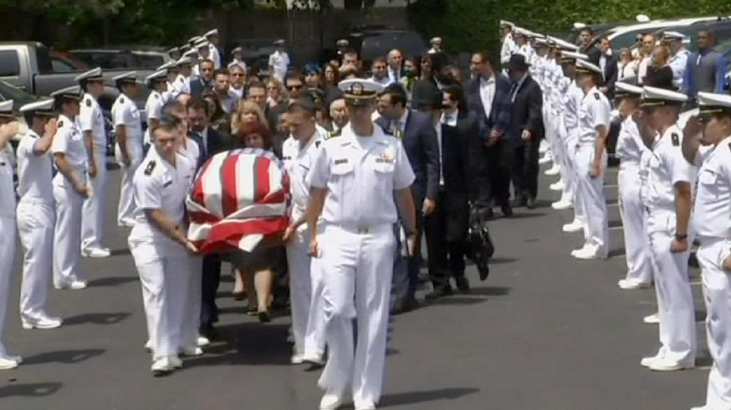 Funeral held for US Naval officer killed in Philadelphia train tragedy