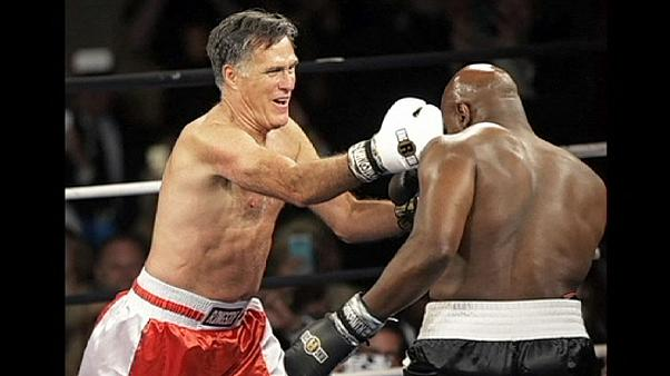Away from the political arena, Mitt Romney punches above his weight