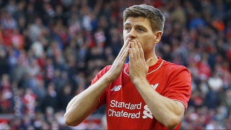 Emotiva despedida de Steven Gerrard en su último partido con el Liverpool