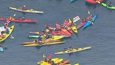 Les écologistes de Seattle contre le forage pétrolier dans l'Arctique