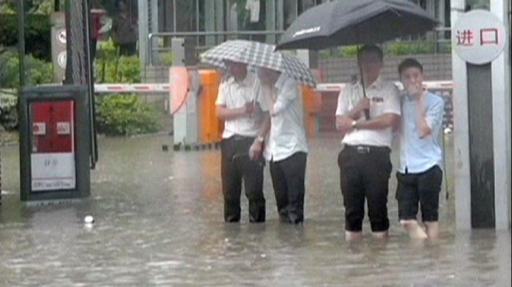 Pioggia torrenziale in Cina