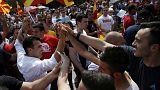 Makedonya'da hükümet karşıtı gösteri