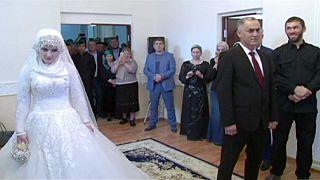 Nagy felháborodást váltott ki egy házasság Csecsenföldön