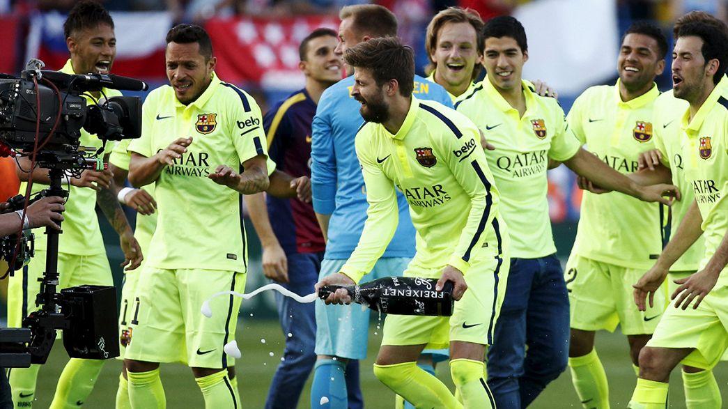 EL FC Barcelona se proclama campeón de la Liga