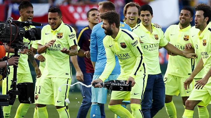 Barcelona crowned Spanish champions