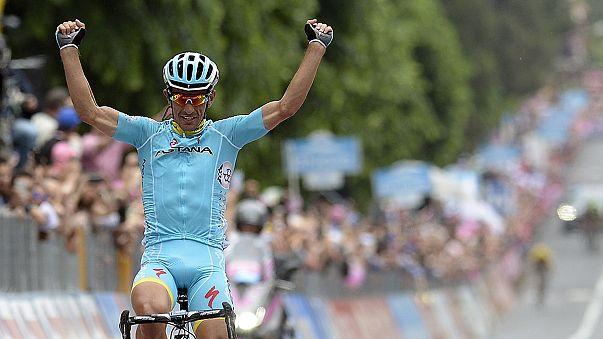 Tiralongo claims tough stage 9 Contador still in pink at the Giro d'Italia