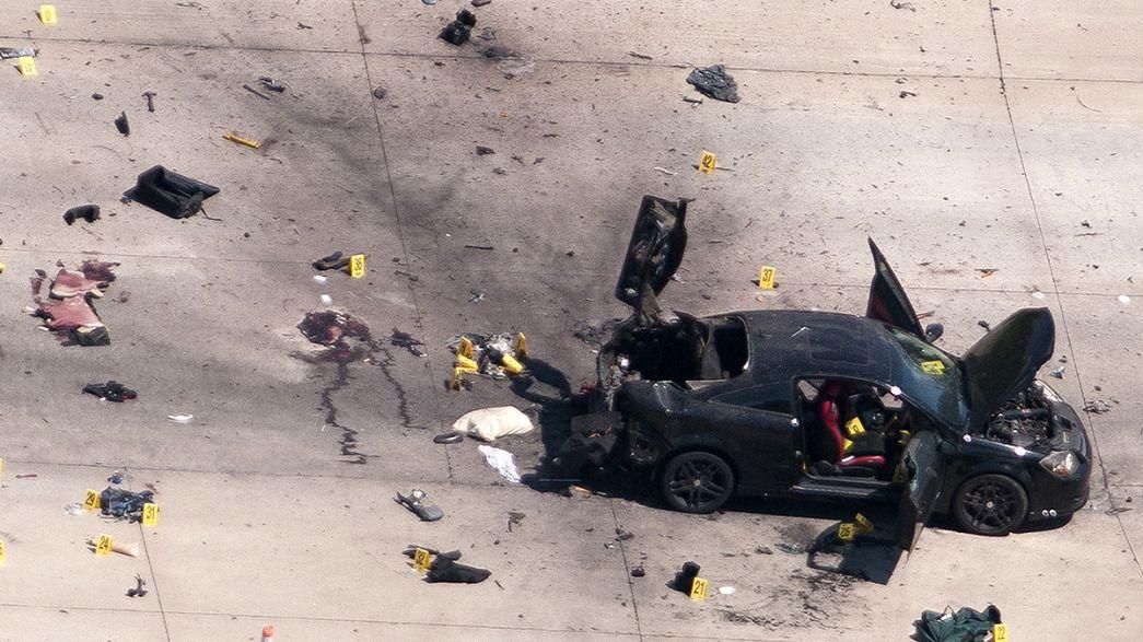 Mueren nueve moteros en un tiroteo entre bandas en Estados Unidos