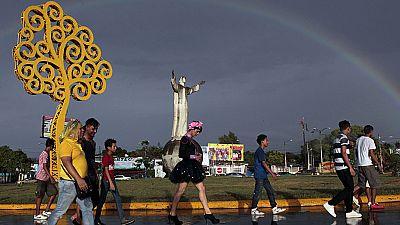 Rainbow sky illuminates gay rights parade