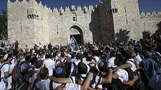 """Clashes erupt amid """"Jerusalem Day"""" celebrations"""