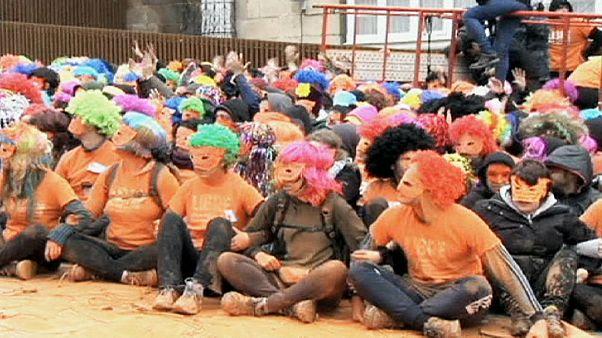 Protesta dei separatisti baschi in Spagna