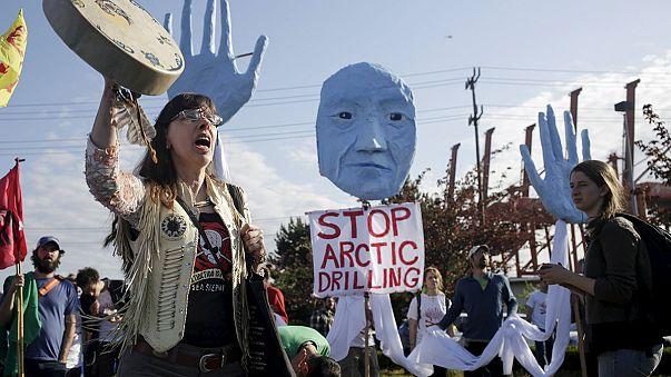 """""""No"""" alle trivellazione nell'Artico, protesta anti-Shell a Seattle"""