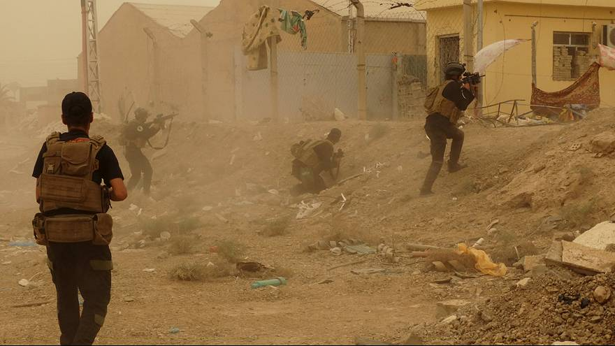 Shi'ite militiamen readying for Ramadi recapture