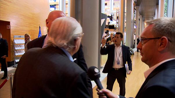 Watch: France's Jean-Marie Le Pen clashes with UKIP MEP Woolfe