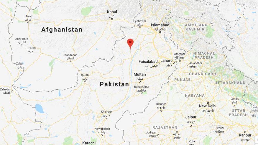 Image: Map showing Biland Khel, Pakistan