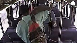 [Watch] Train hits bus on level crossing in Altlanta, USA