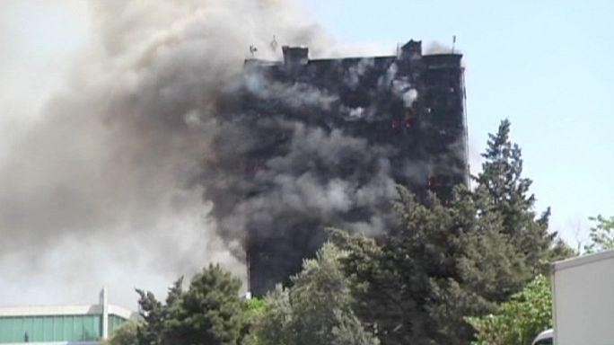 Azerbaïdjan : quinze morts dans un violent incendie dans le centre de la capitale Bakou