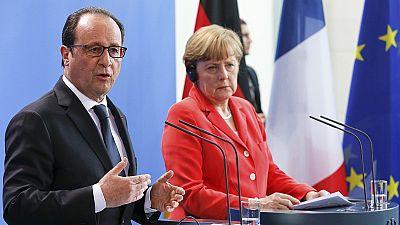 Merkel and Hollande pledge action on climate change