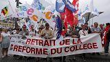 فرنسا: اضراب لمعلمي المرحلة التكميلية