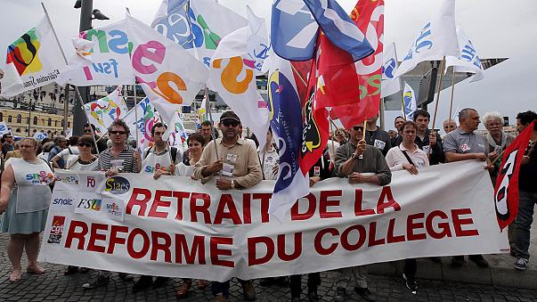 French teachers strike over reforms