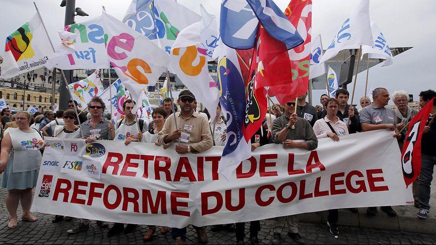 Во Франции учителя объявили забастовку