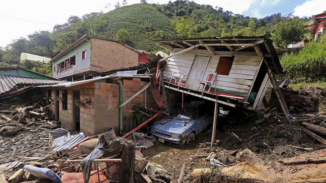 Colômbia: Presidente promete alojamento às vítimas de deslizamento de terras