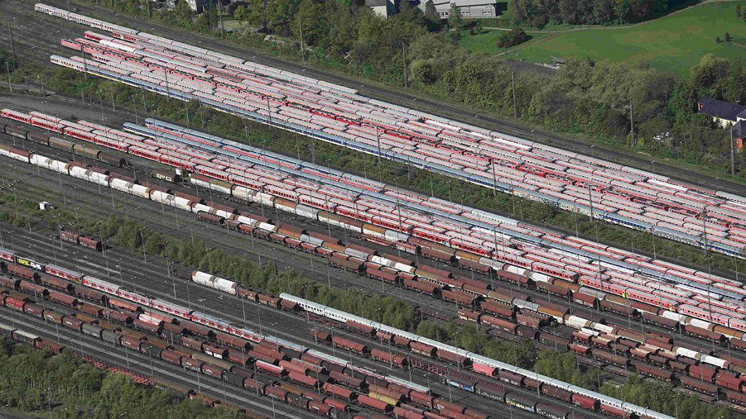 """Nona greve dos maquinistas ameaça a """"locomotiva alemã"""""""