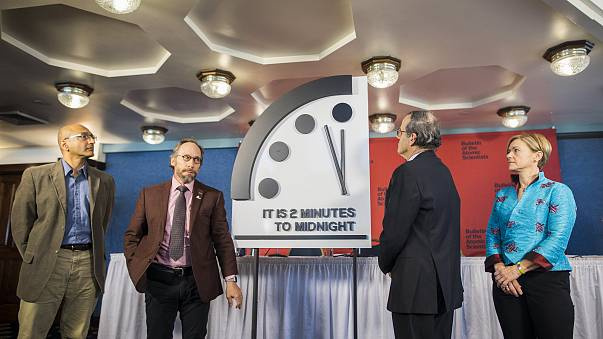 Image: Doomsday Clock moved to two minutes to midnight
