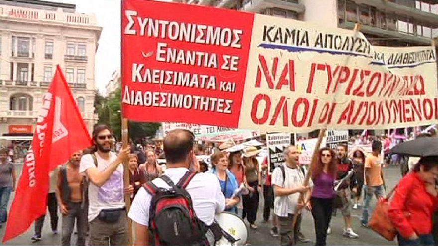 Yunanistan'da sağlık sektörü çalışanları greve gitti