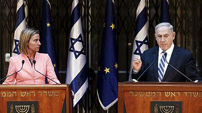 """""""Sì ai due stati"""". Con la Mogherini, Netanyahu dimentica le promesse elettorali"""