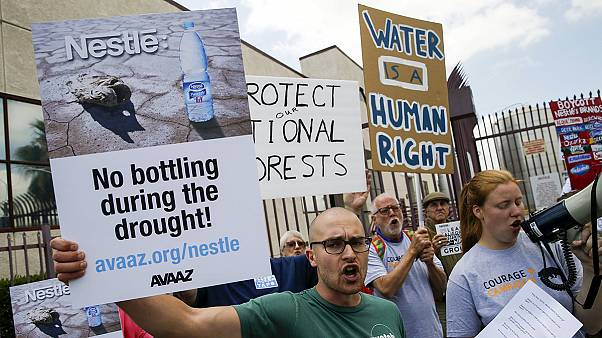 Drought- suffering California in Nestle protest