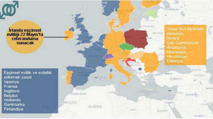 Eşçinsel evliliklerin yasalaştığı ülkeler artıyor