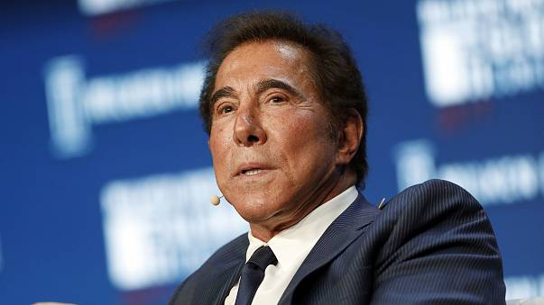 Image: Steve Wynn speaks at a conference in Beverly Hills