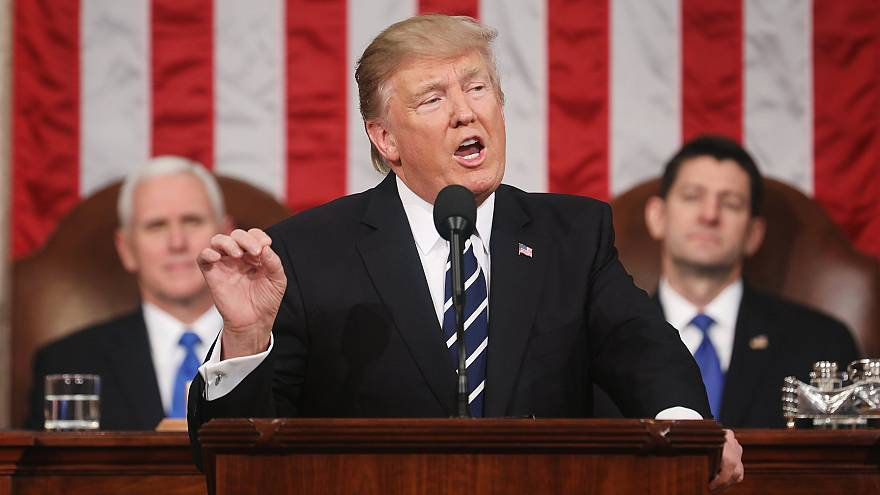 Image: US President Donald J. Trump address Joint Session of Congress