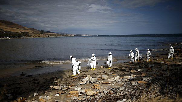 آمریکا؛ پاکسازی لکه های نفتی ساحل سانتاباربارا ماهها طول خواهد کشید