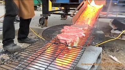 Grilling up a steak over molten lava – nocomment