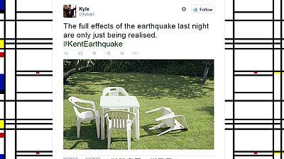 Un léger tremblement de terre en Grande-Bretagne a inspiré les twittos
